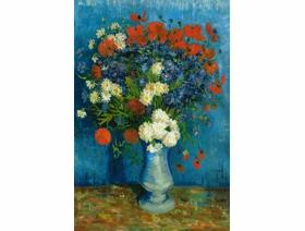 Vase with Cornflowers and Poppies - Wooden Jigsaw Puzzle