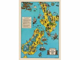 Historical Map of New Zealand - Wooden Jigsaw Puzzle