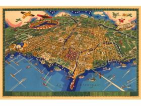 An Illustrated Map of Chicago - Wooden Jigsaw Puzzle