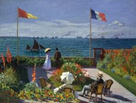 Garden at Sainte-Adresse - Wooden Jigsaw Puzzle