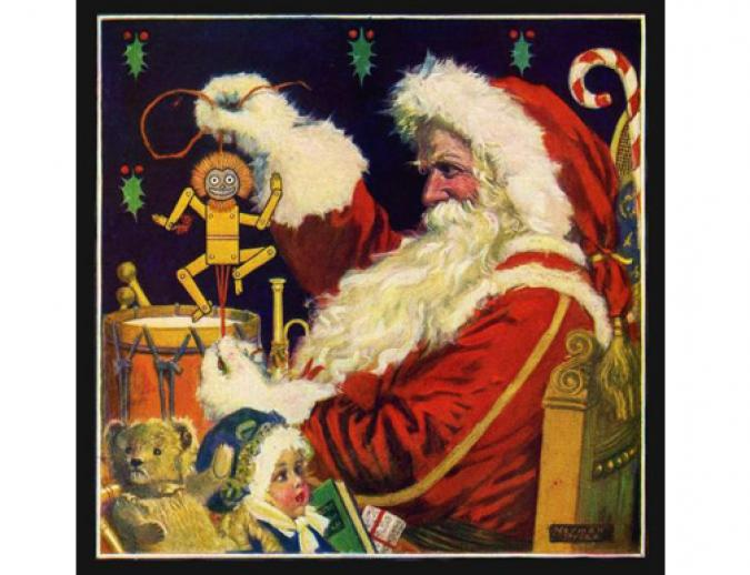 Santa Claus Preparing for His Annual Visit - Wooden Jigsaw Puzzle