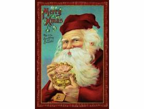 Jewel Box Santa - Wooden Jigsaw Puzzle
