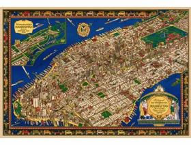 The Wondrous Isle of Manhattan - Wooden Jigsaw Puzzle