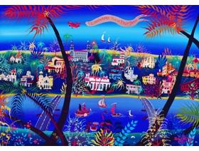 75th Anniversary of Palm Beach - Wooden Jigsaw Puzzle