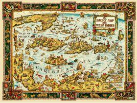 The Story Map of the West Indies - Wooden Jigsaw Puzzle