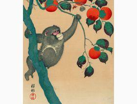 Monkey in Persimmon Tree - Wooden Jigsaw Puzzle