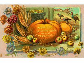 Peace and Plenty Thanksgiving - Wooden Jigsaw Puzzle