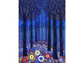 Blue Forest - Wooden Jigsaw Puzzle