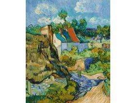 Houses at Auvers - Wooden Jigsaw Puzzle