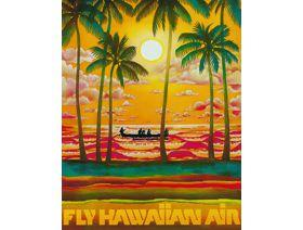 Fly Hawaiian Air - Wooden Jigsaw Puzzle