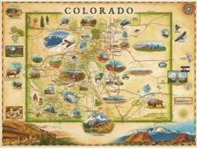 Colorado Xplorer Map - Wooden Jigsaw Puzzle