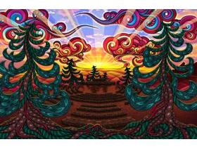 Sunrise Circle - Wooden Jigsaw Puzzle
