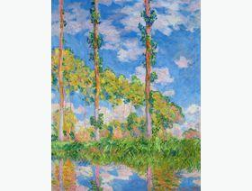 Poplars in the Sun - Wooden Jigsaw Puzzle