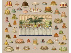 Fancy Cakes - Wooden Jigsaw Puzzle