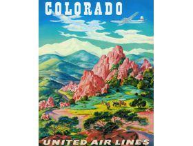 Colorado United Airlines - Wooden Jigsaw Puzzle