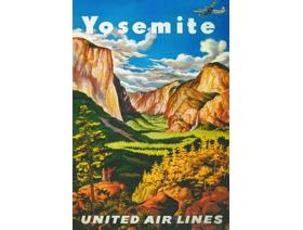 Yosemite United Airlines - Wooden Jigsaw Puzzle