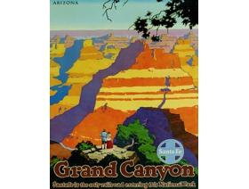 Grand Canyon Santa Fe Railroad - Wooden Jigsaw Puzzle